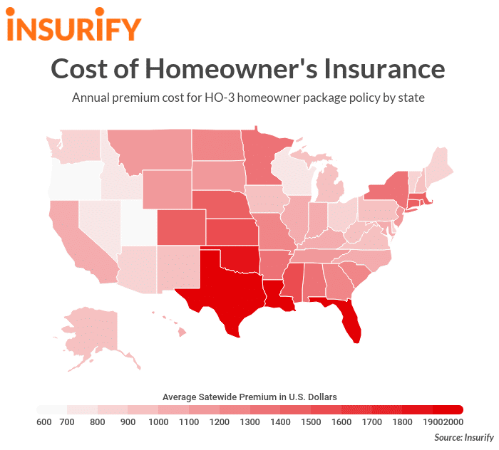 Home Insurance Rankings by State