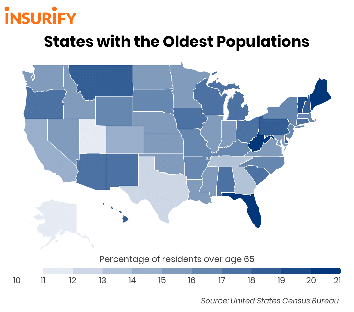 States With The Oldest Populations