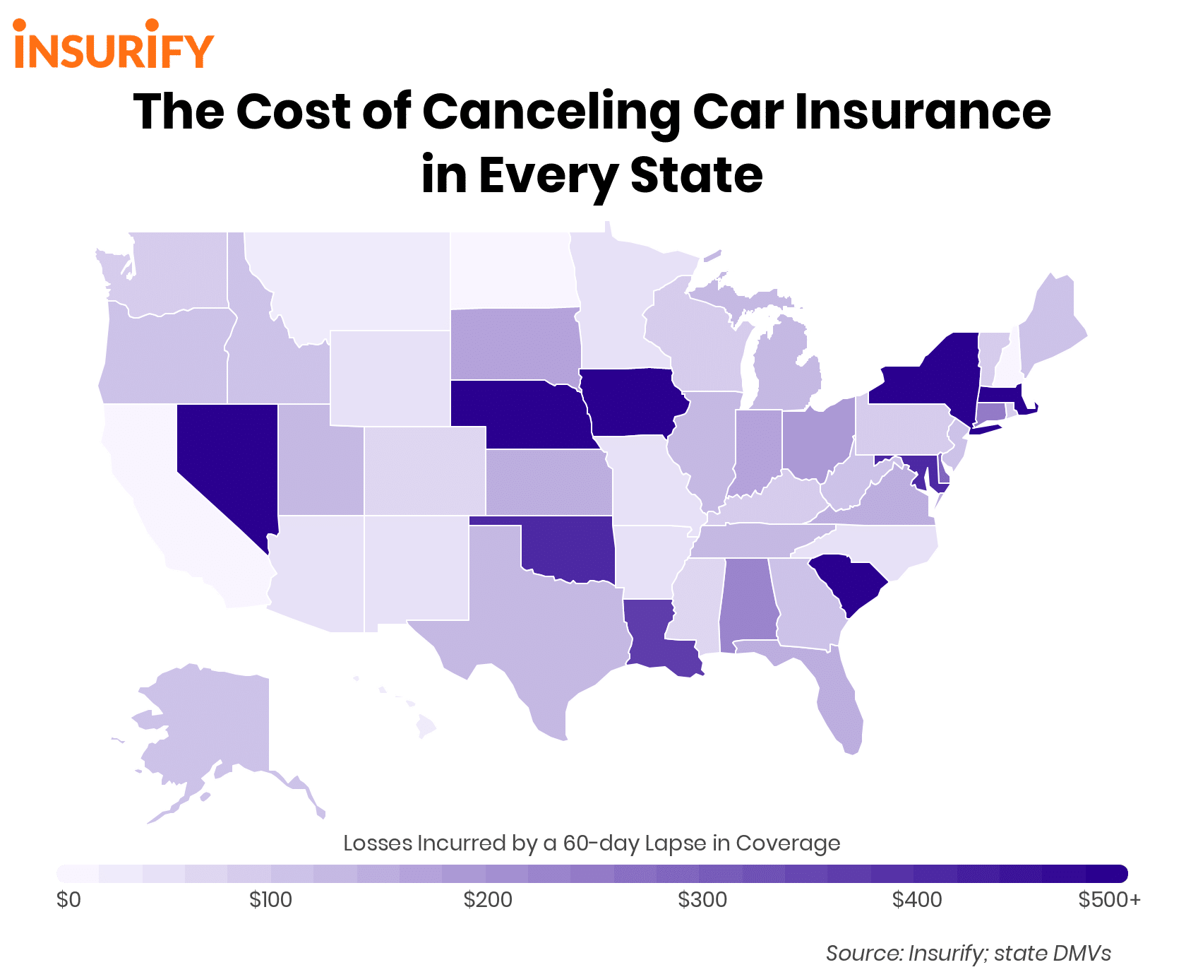 The Cost of Canceling Car Insurance in Every State