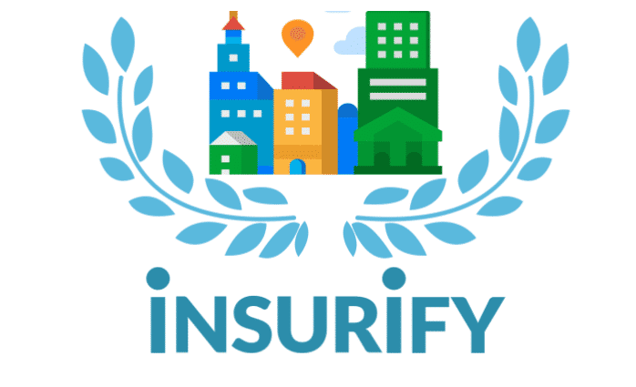 Award badge for Insurify's best cities to retire awards